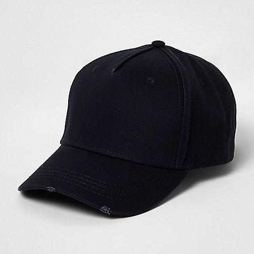Navy distressed baseball cap