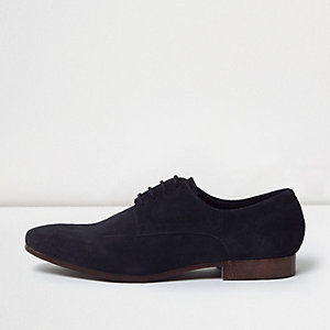 Navy smart suede shoes