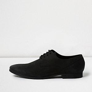 Black nubuck leather smart shoes