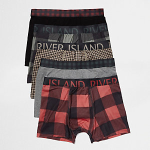 Red check trunks pack