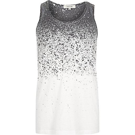 White splatter fade print vest
