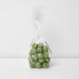 Green brussel sprout foil candy 150g
