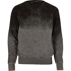 Sweat gris délavé
