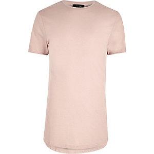 Pinkes, langes T-Shirt