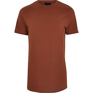 Rust orange longline T-shirt