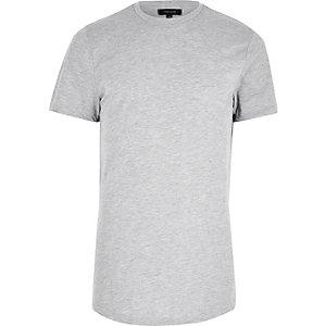 Grey marl longline T-shirt