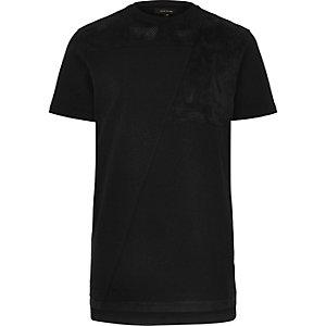 Langes T-Shirt mit Mesh-Akzent