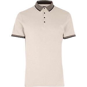 Stone short sleeve polo shirt