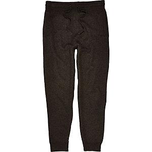Dark grey tailored joggers