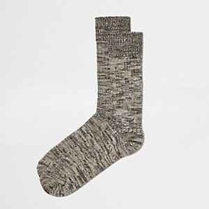 Brown multi dye yarn socks