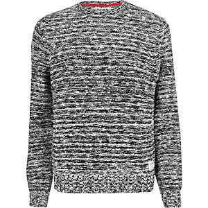 Grey HYMN stitch jumper