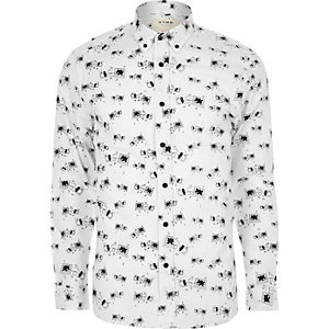 White HYMN print shirt
