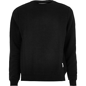 Black waffle sweatshirt