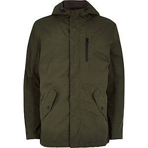 Dark green Only & Sons hooded jacket