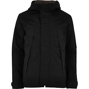 Black Only & Sons short hooded jacket