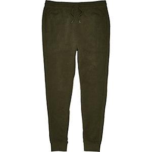 Pantalon de jogging vert foncé à empiècements cousus