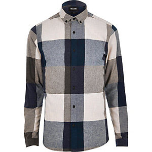 Blue Only & Sons large check shirt