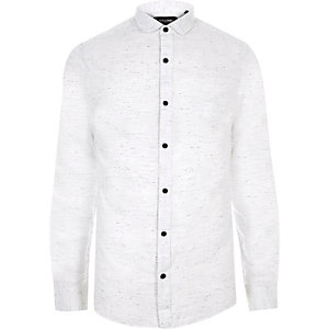 White Only & Sons smart flecked shirt