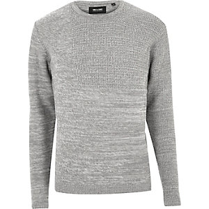 Grey marl Only & Sons knit jumper