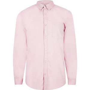 Dusty pink casual Oxford shirt