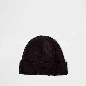Purple fisherman beanie