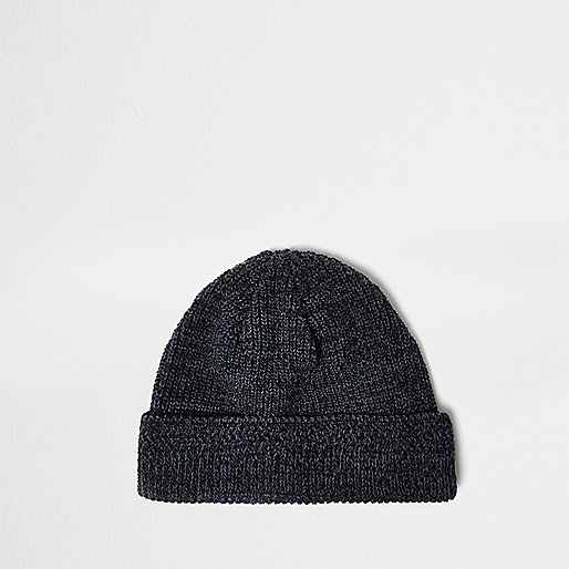 Charcoal grey fisherman beanie