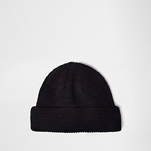 Dark purple fisherman beanie