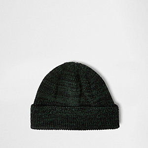 Dark green fisherman beanie