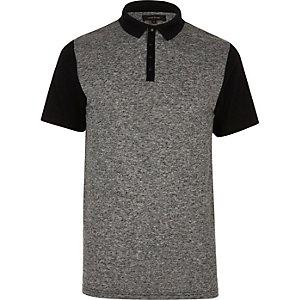 Polo style colour block gris