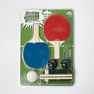 Desktop table tennis set