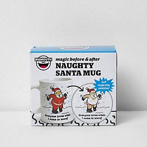 White naughty Santa Christmas mug