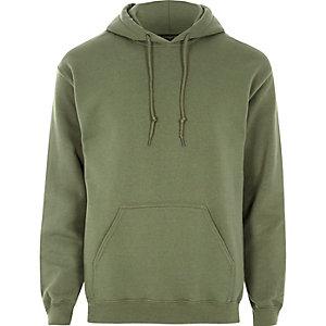 Dark green causal hoodie
