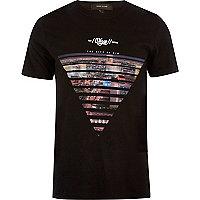 T-shirt noir imprimé Las Vegas