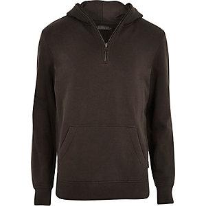 Navy Jack & Jones zip neck hoodie