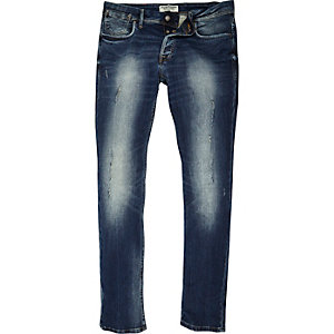 Jack & Jones – Slim Fit Jeans in hellblauer Waschung