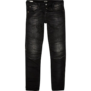 Black faded Jack & Jones slim fit jeans