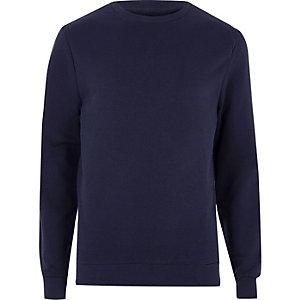 Marineblaues Sweatshirt mit V-Ausschnitt