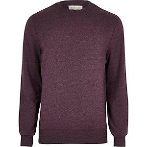 Dark red textured sweatshirt