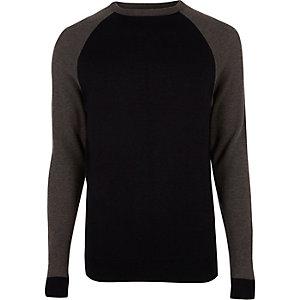 Navy raglan sleeve sweater
