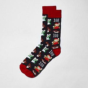Grey Mario print socks