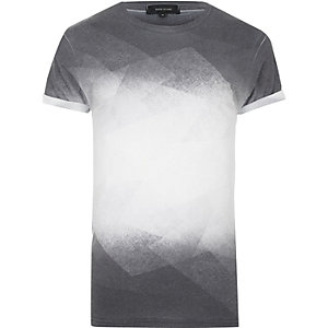 Black faded print T-shirt