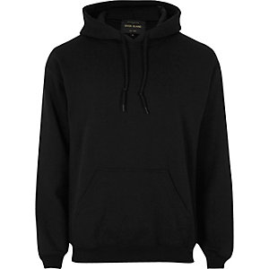 Sweat à capuche casual noir