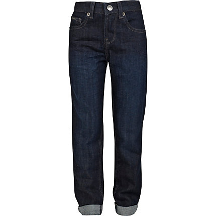 Boys dark denim skinny jeans
