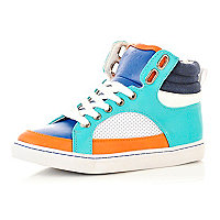 Boys colour block high tops