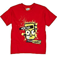 Boys red bart simpson print t-shirt