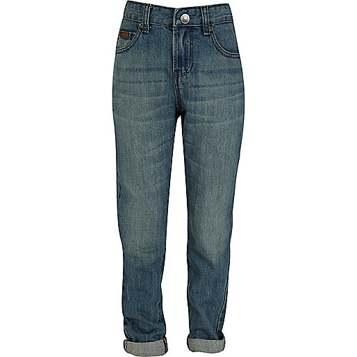 Boys light wash skinny jeans