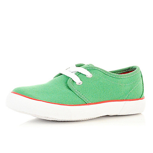 Boys green plimsolls