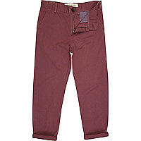 Boys red burgundy chinos