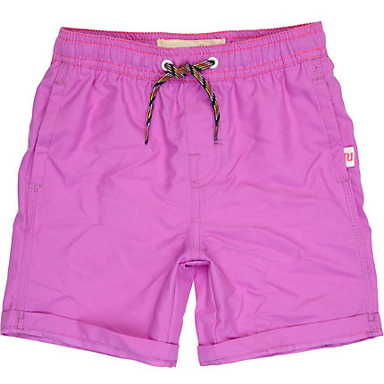 Boys purple fluoro swim shorts