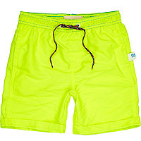 Boys yellow fluoro swim shorts
